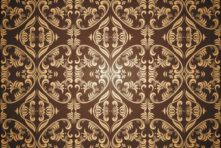 tiled: seamless damask pattern