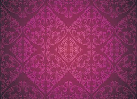 seventies: Damask seamless pattern