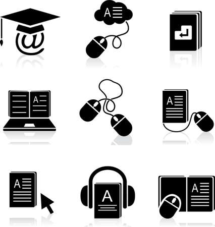 e-learning icons  Stock Vector - 11912287