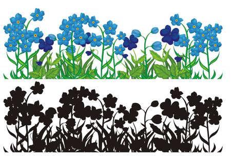 cyclamen: Flower silhouettes