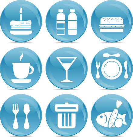Food icons Stock Vector - 11898389