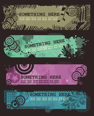 Grungy textures Vector