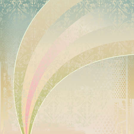 vintage background with flowers and rainbow Stock Vector - 11898440