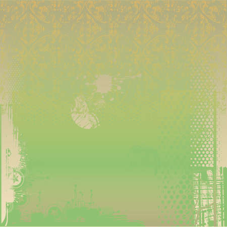 Green grungy background Vector