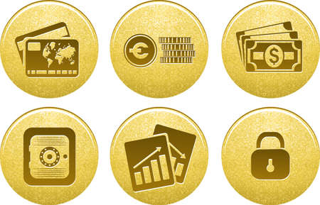 business symbols: Money and Finance icons