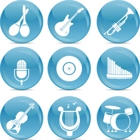 pictogrammes musique: Ic�nes de la musique Illustration