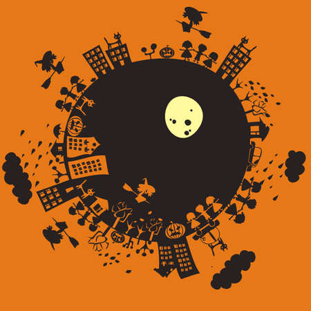 a halloween planet Stock Vector - 12061848