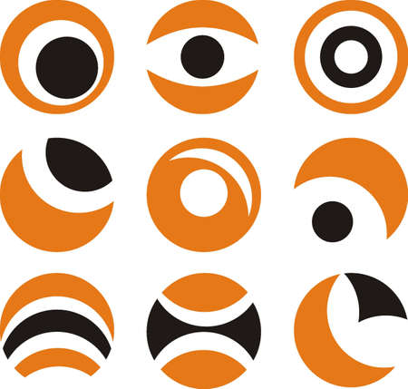 symmetrical design: circle icons  Illustration