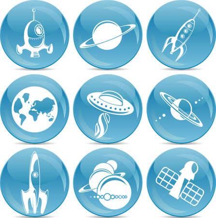 space development icons  Vector