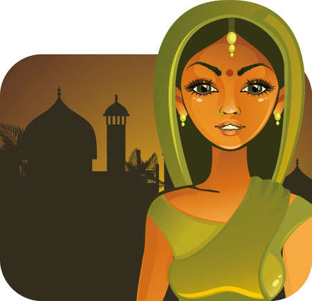 Pretty indian girl  Vector