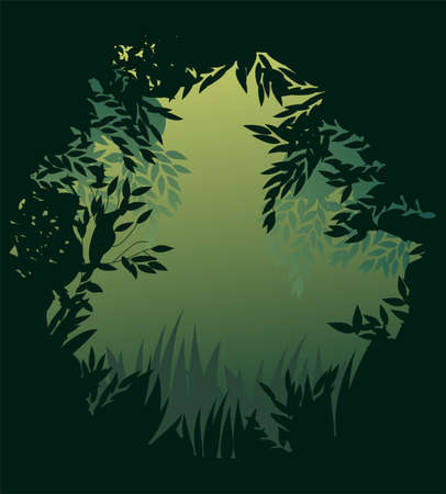 rain forest: spaceman on white background