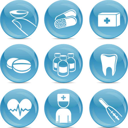shiny medical icons  Vector