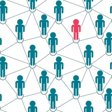 social gathering: seamless pattern: business network