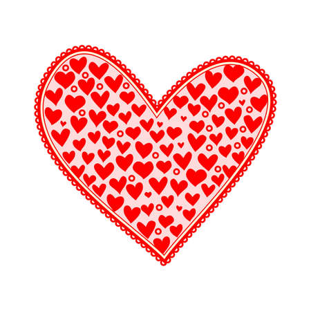 heart napkin isolated on white Stock Vector - 12373998