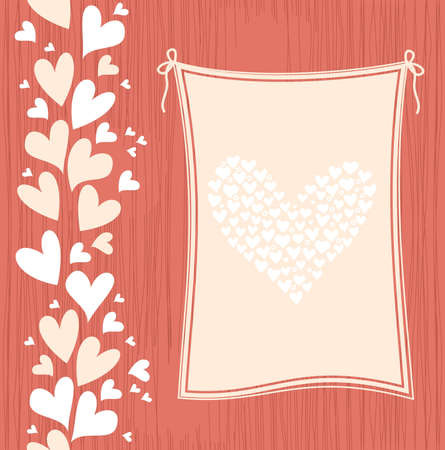 banner with hearts  Vector