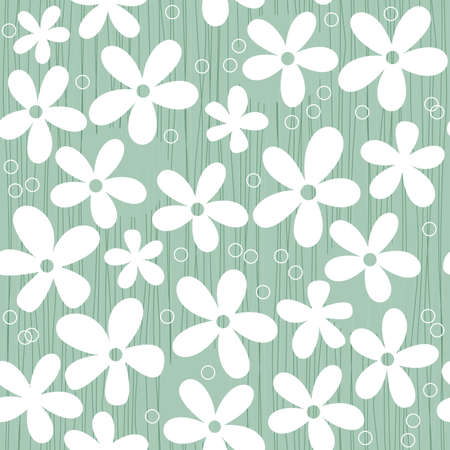 blue flowers seamless Vector