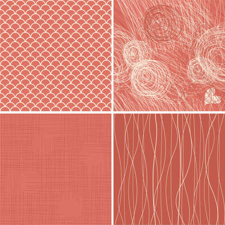 set of seamless texturesbackgrounds  Vector