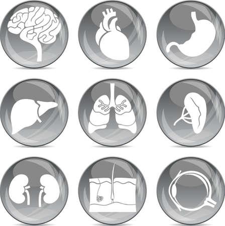 grijze ballen medische pictogrammen