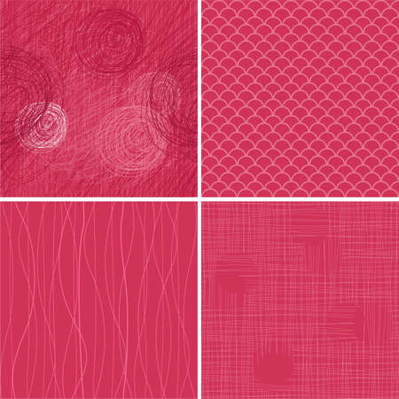 set of seamless textures/backgrounds  Vector