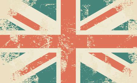 bandera de reino unido: grungy Bandera del Reino Unido Vectores
