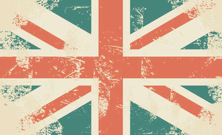 english culture: grungy UK flag  Illustration