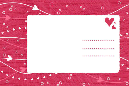 valentine card on seamless background  Illustration