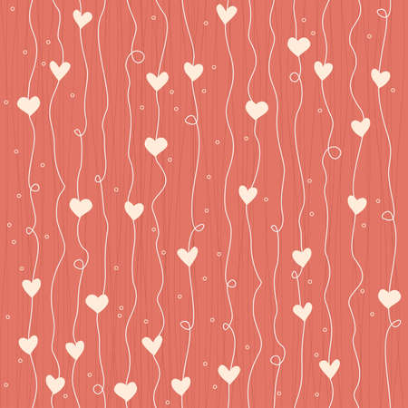 seamless heart growing like flowers pattern  Vector