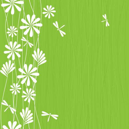 수직의: 원활한 봄 패턴 일러스트
