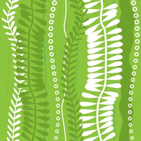 abstract grass seamless pattern Vector