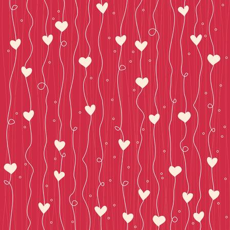 seamless hearts pattern Illustration