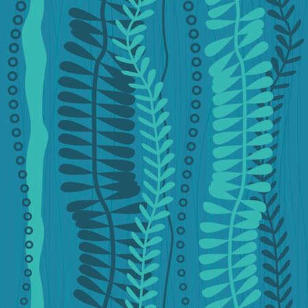 seaweed seamless pattern Vector