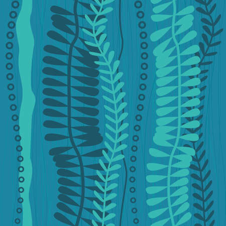 water weed: seaweed seamless pattern