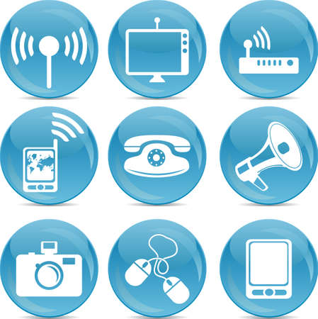 media information icons Stock Vector - 12854541