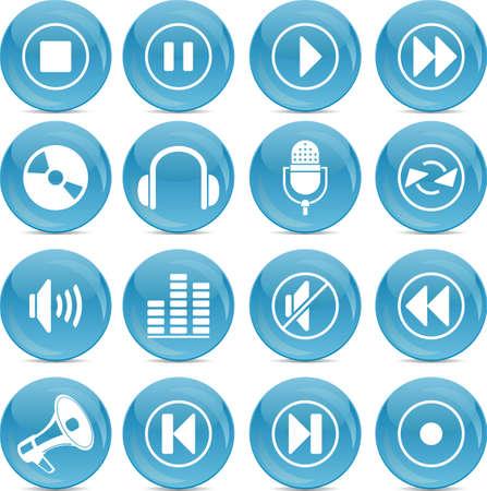 audio icons  Stock Vector - 12854540