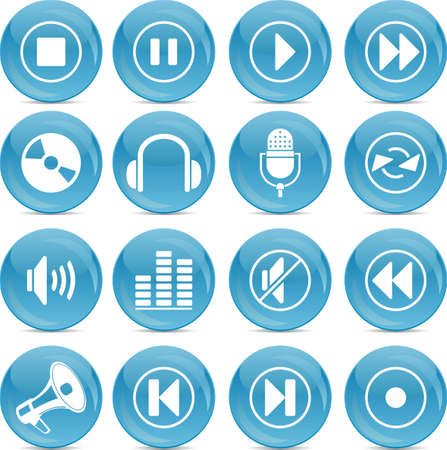 audio icons Stock Vector - 12854540