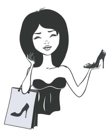 pricey: shoe shopping girl