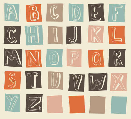 latin alphabet Stock Vector - 13576888