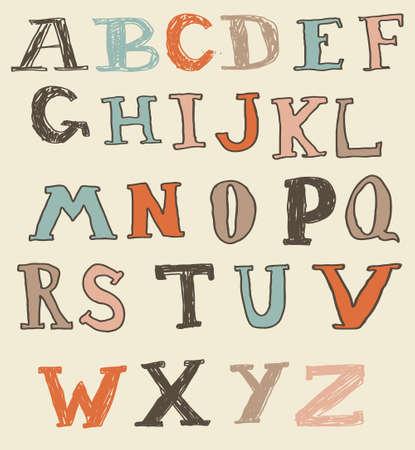 funky doodle alphabet Stock Vector - 13576889
