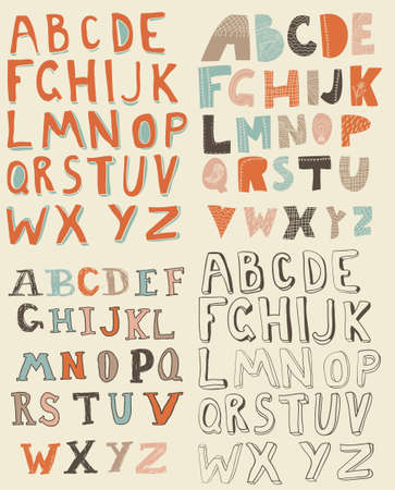 latin alphabet sets Vector