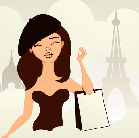 girl shopping in paris