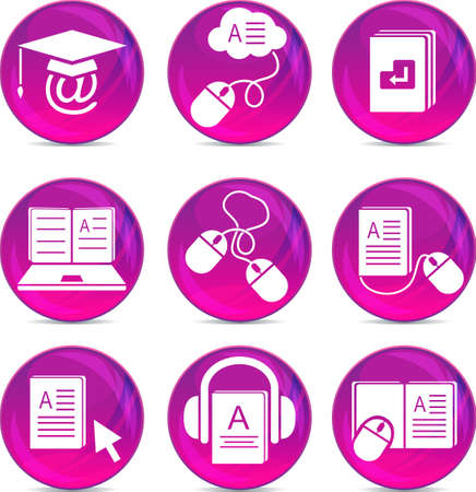 audio book: e-learning icons   Illustration