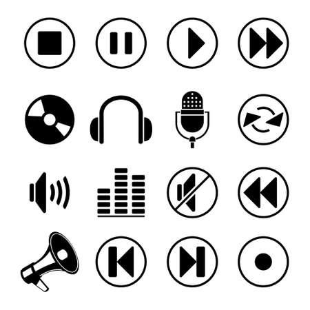 audio music icons  Vector