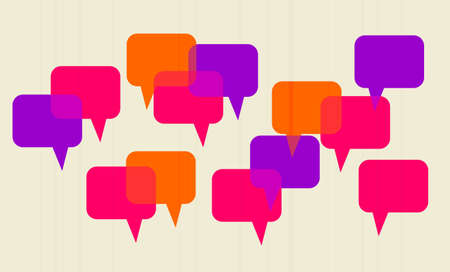 speech bubbles intersected with each other as symbol of communication  Vector