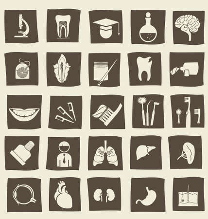 retro anatomical icons Vector