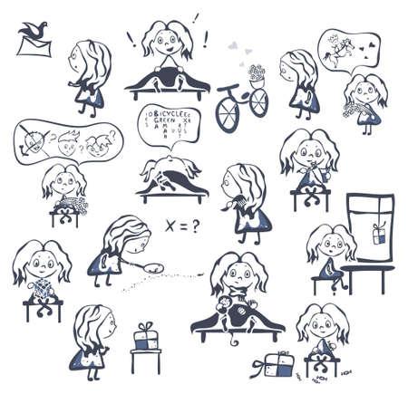 investigator: girl s life cartoons