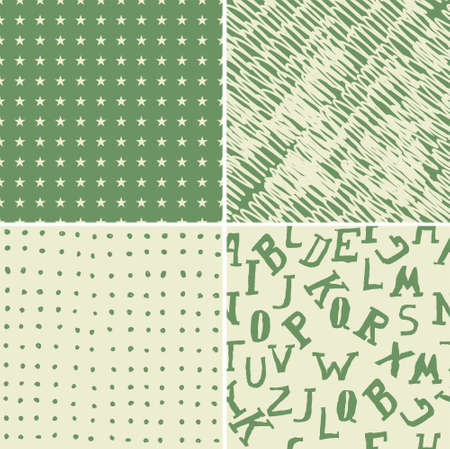 set of 4 seamless background Vector
