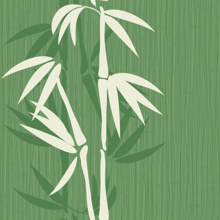 old seamless bamboo pattern  Vector
