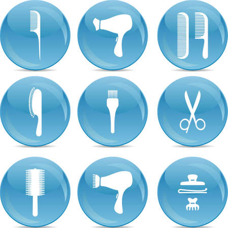 hairdryer: hair care icons Illustration