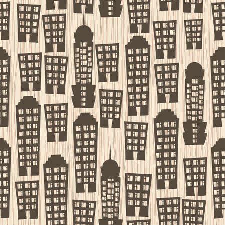 seamless buildings megapolis pattern  Vector