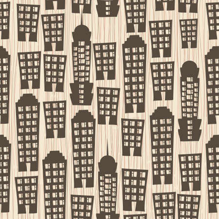 megapolis: seamless buildings megapolis pattern